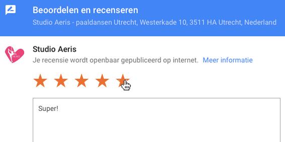 Google recensie schrijven